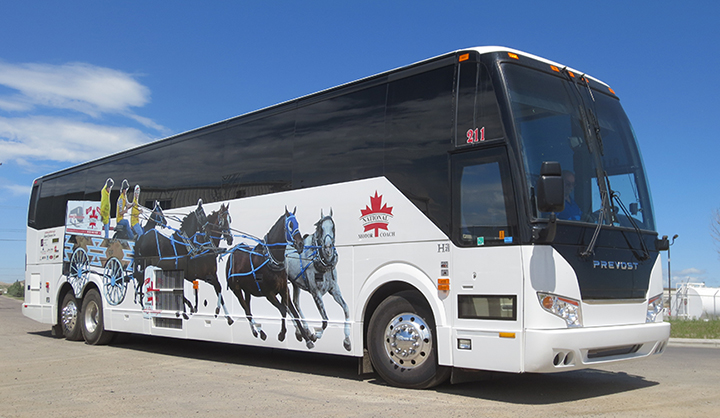 National Motorcoach Bus Partial Wrap